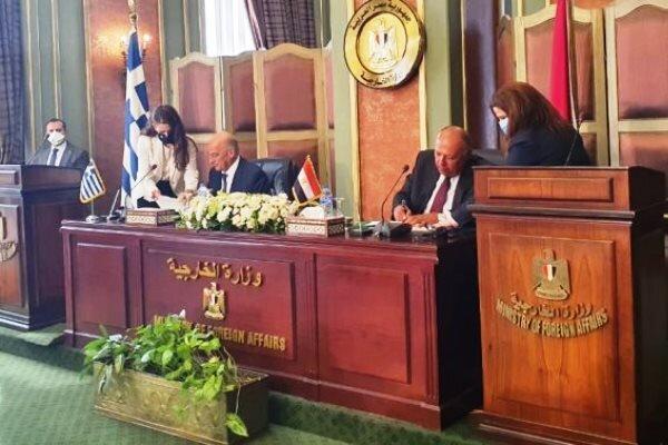 مصر و یونان توافقنامه معین منطقه انحصاری مالی را امضا کردند