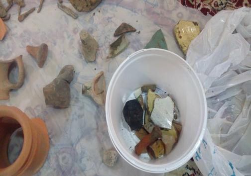 کشف اشیاء عتیقه پیش از اسلام در محمودآباد