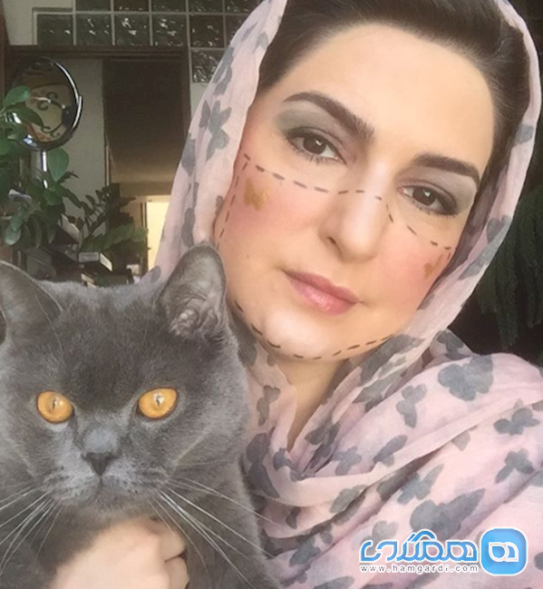 بازیگر نوار زرد و گربه اش