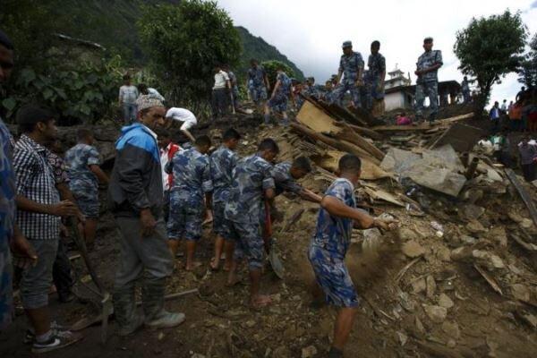 رانش زمین در نپال ، 33 تن کشته و مفقود شدند