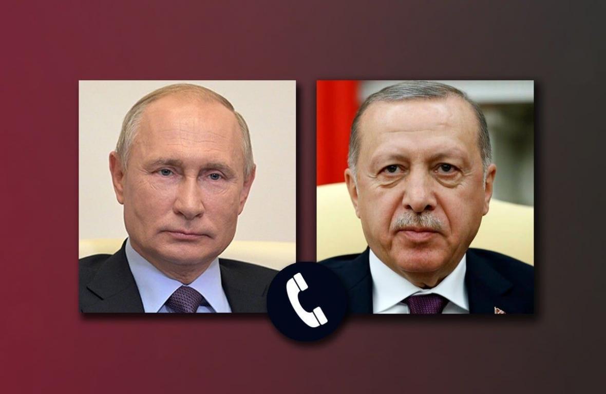 گفتگوی تلفنی اردوغان و پوتین درباره قره باغ
