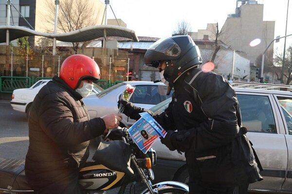 مانور موتورسواران خوب، در معابر پرتردد و حادثه خیز پایتخت