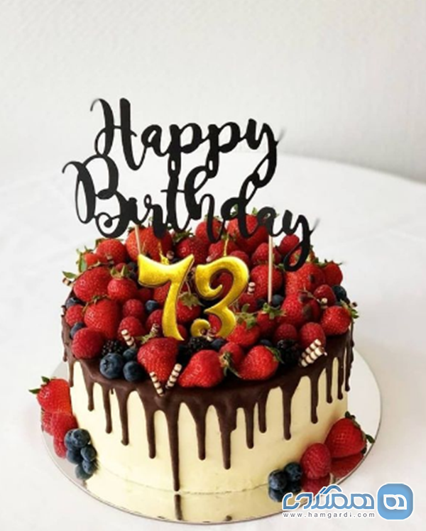 مریم امیرجلالی و کیک تولد 73 سالگی