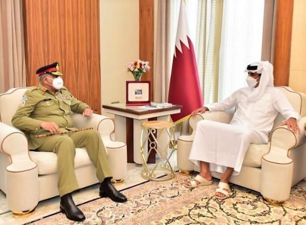 خبرنگاران رایزنی های دفاعی-امنیتی فرمانده ارتش پاکستان در دوحه با مقام های قطری