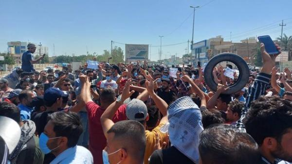 معترضان عراقی مرکز شهر ناصریه را بستند