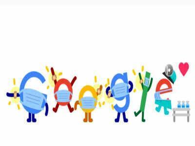 تغییر لوگوی گوگل؛ واکسن و ماسک بزنید