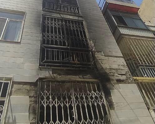 نجات 10 نفر از حریق ساختمان مسکونی