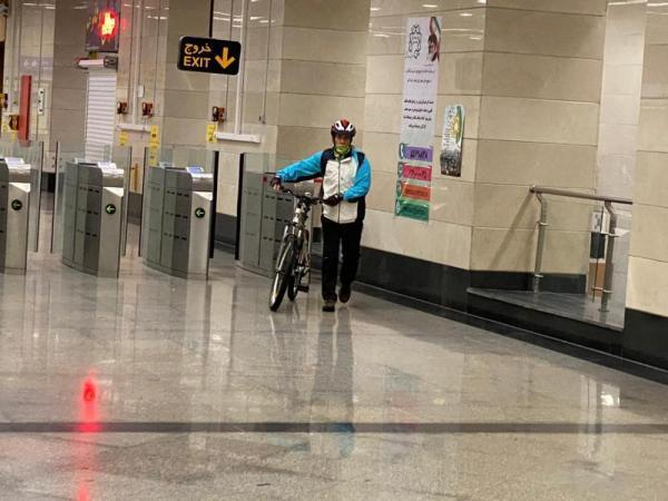بیش ازسه هزار و 450 دوچرخه سوار در شش ماه گذشته با مترو تردد کردند